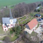 Ein Luftbild vom Kindergarten Niedergräfenhain