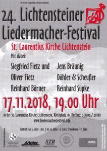 24. Lichtensteiner Liedermacherfestival 2018
